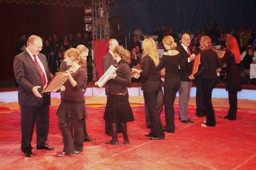 Bilder von der Circus Night 2005: Ehrung